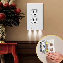 Load image into Gallery viewer, Outlet Wall Plate With LED Night Lights