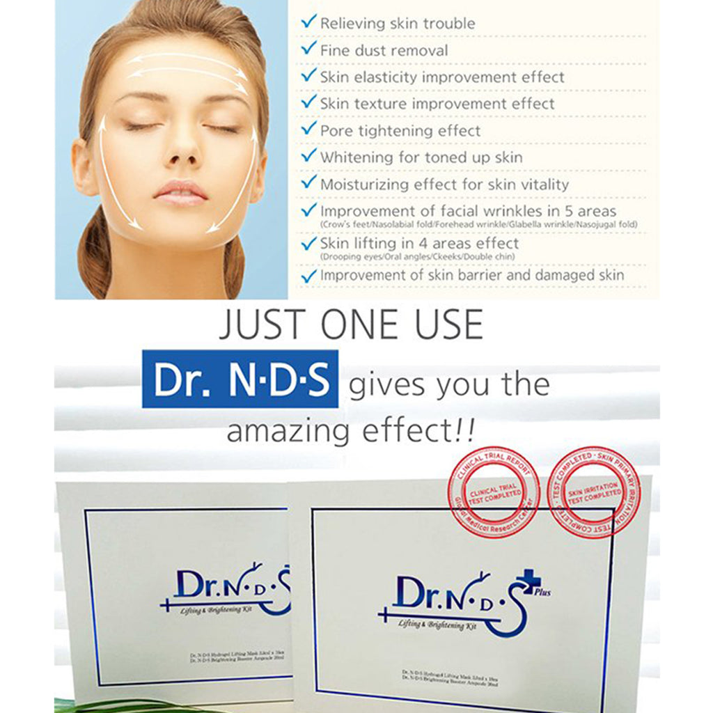 [Dr. NDS] Hydrogel Lifting Mask & Brightening Booster Ampoule Kit