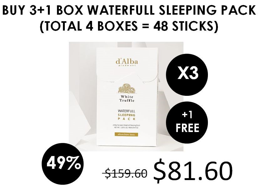 [d'Alba] Waterfull Fantastic Sleeping Pack (4mlx12EA)