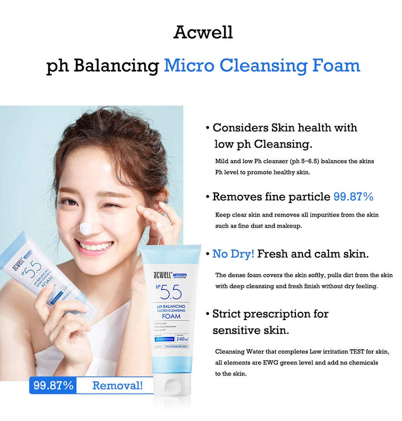 [ACWELL] 5.5 pH Balancing Micro Cleansing Foam 140ml