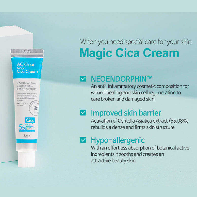 [THE PLANT BASE] AC Clear Magic Cica Cream 60ml