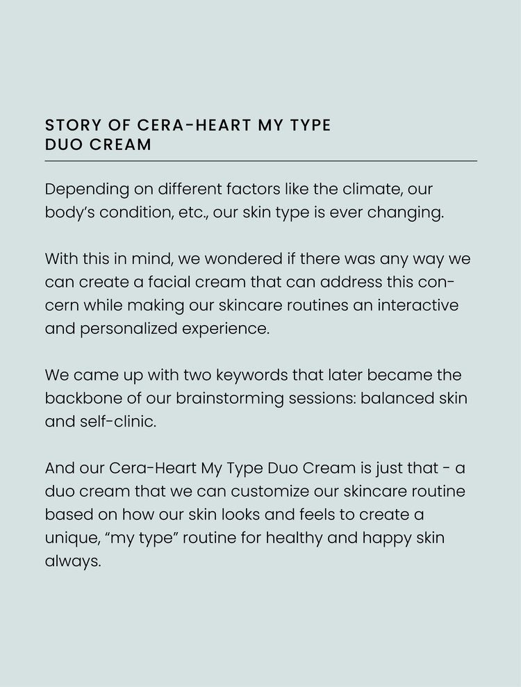 [AXIS-Y] Cera-Heart My Type Duo Cream Hydrates & Moisturizes