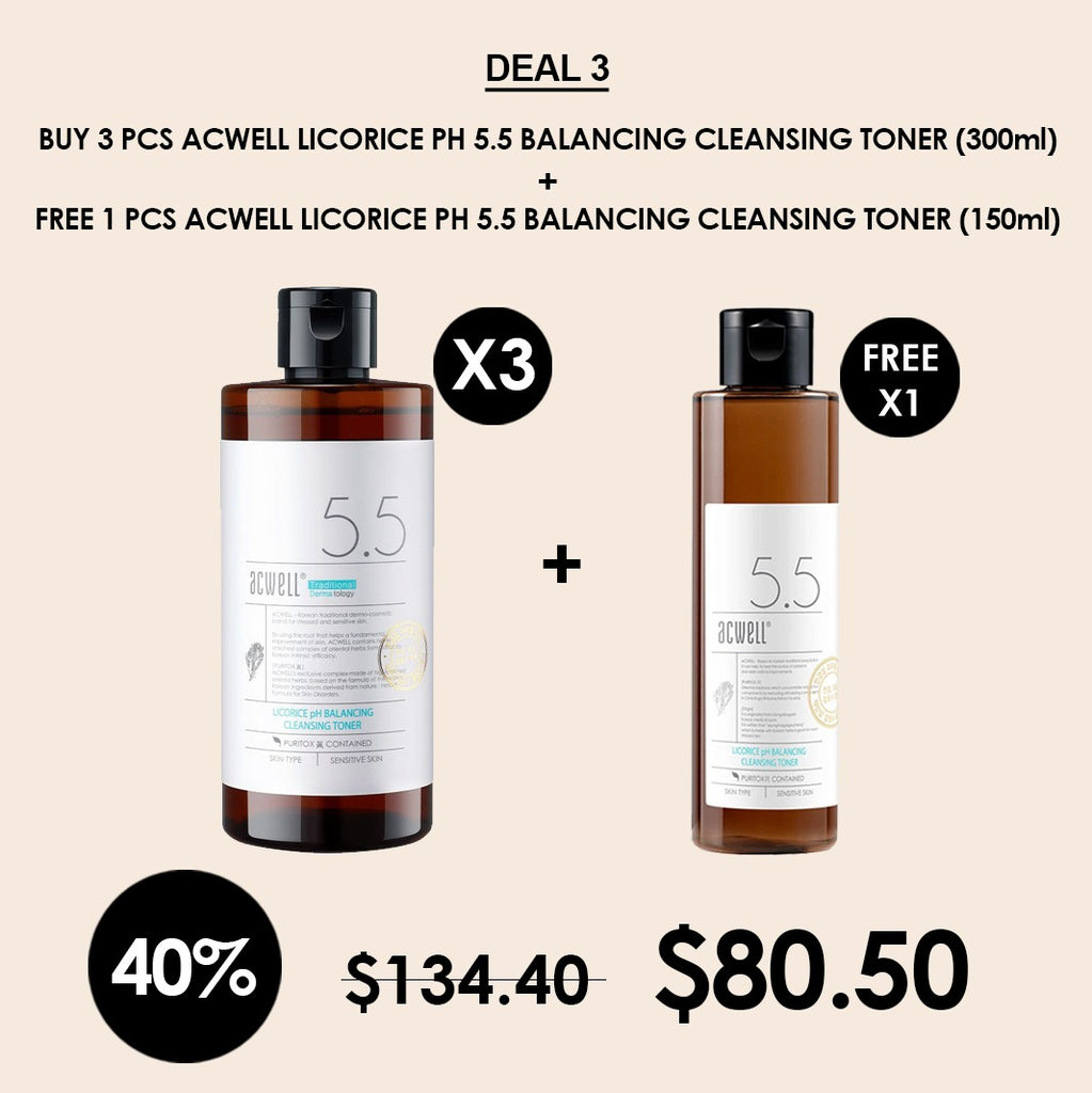 [Acwell] Licorice PH Balancing Cleansing Toner 300ml