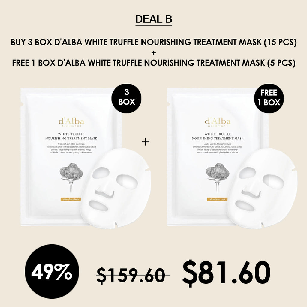 [d'Alba] White Truffle Nourishing Treatment Mask 25g
