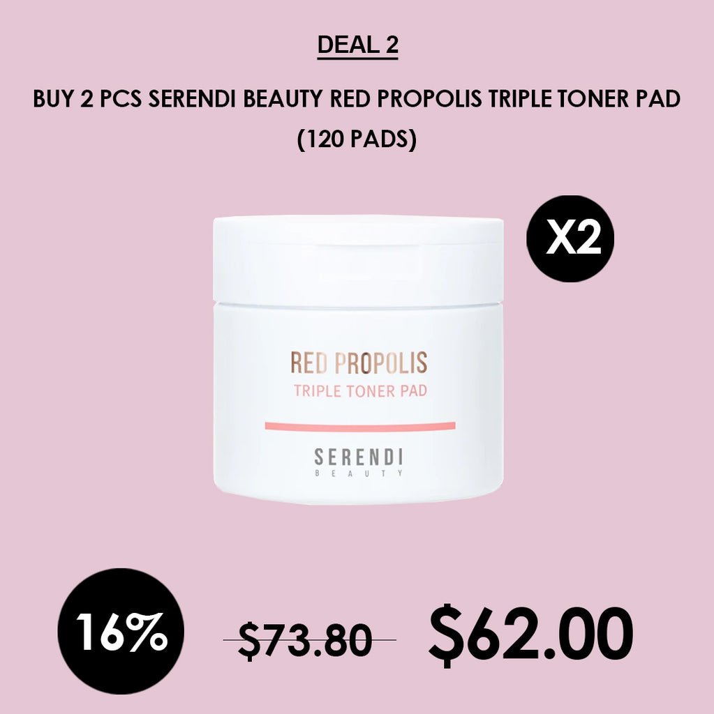 [Serendi Beauty] Red propolis Triple Toner Pad 60 Pads