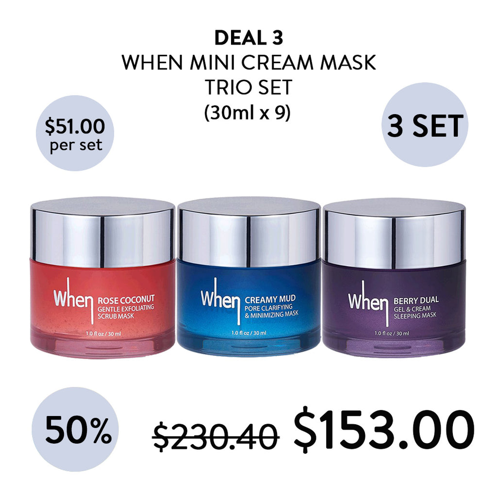 [WHEN]Mini Cream Mask Trio Set 30ml