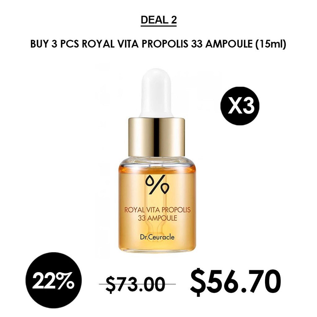 [Dr.Ceuracle] Royal Vita Propolis 33 Ampoule 15ml