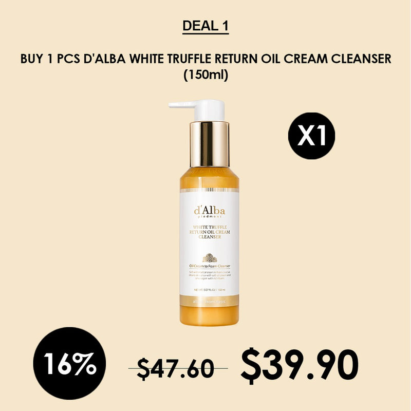 [D'ALBA] White Truffle Return Oil Cream Cleanser 150ml