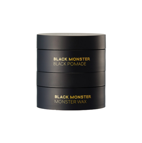 Black Monster Homme Black Pomade and Wax