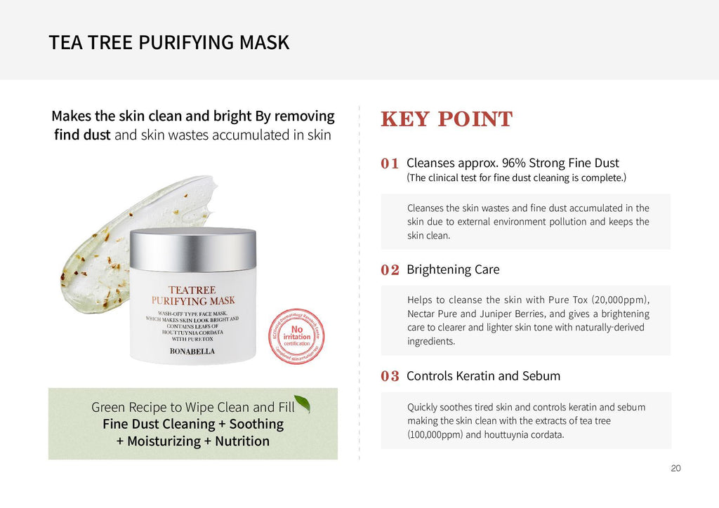 [Bonabella] Tea Tree Purifying Mask 80ml