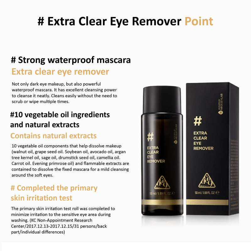 [NEOGEN DERMALOGY] Code9 Extra Clear Eye Remover 50ml