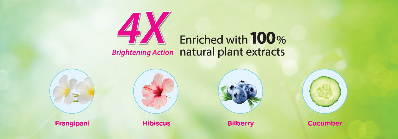 4X Enriched with 100% natural plants extracts