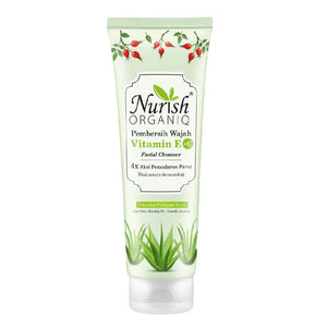 Nurish Organiq Vitamin E+C Facial Cleanser 100g