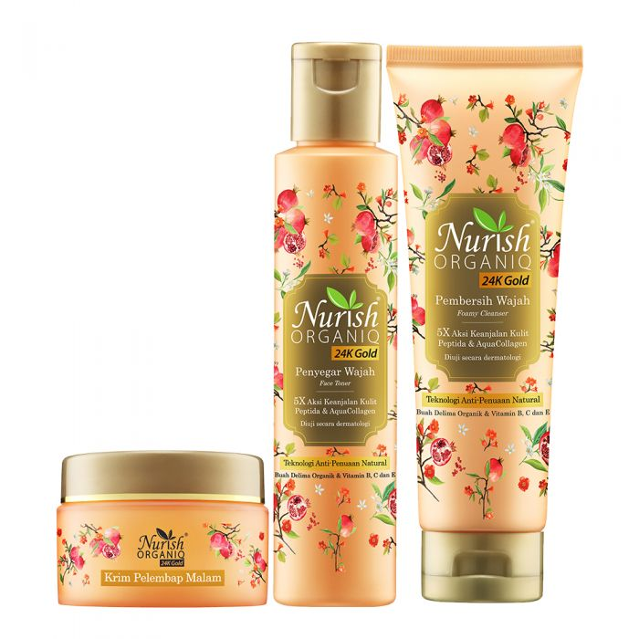 Nurish Organiq 24K Gold Essential Night Set