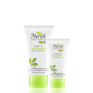 Nurish Organiq Teen Acne Cleanser And Remover Set