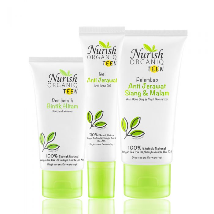 Nurish Organiq Teen Acne Clear Essential Night Care Set