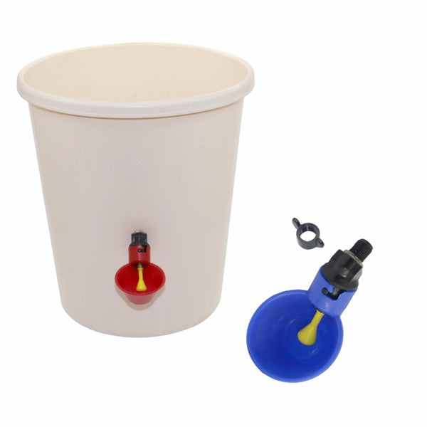 1 Pcs Chicken Drinking Cup Automatic Chicken Feeder Plastic Poultry Cups Installation With Screws - Satisfashion.ca