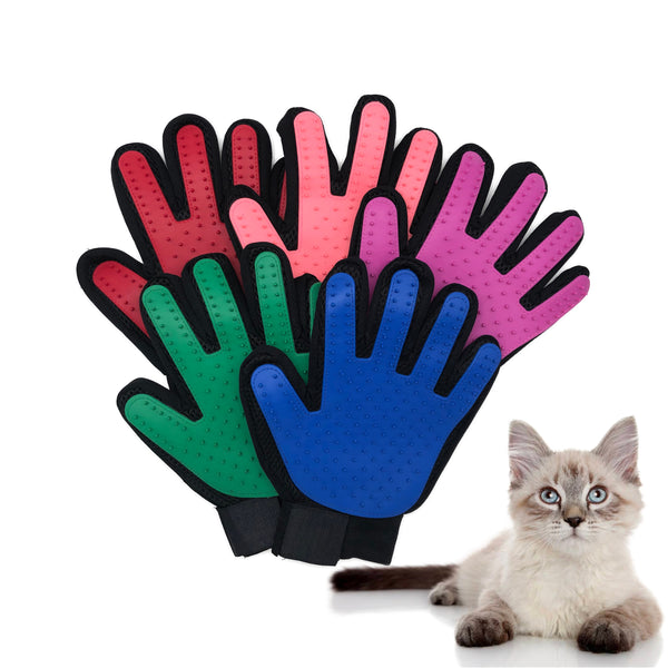 Cat Grooming Gloves for Cats Pet Gloves Pet Hair Deshedding Brush Comb Glove for Pet Dog Cleaning Massage Glove for Animal - Satisfashion.ca