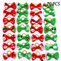 10/20/30pcs Grooming Bows mix 30colours Cat dog Hair Bows Accessories Dog Hair Rubber Bands Pet - Satisfashion.ca