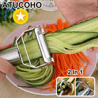 Stainless Steel Multi-function Vegetable Peeler&ampJulienne Cutter Julienne Peeler Potato Carrot Grater Kitchen Tool - Satisfashion.ca