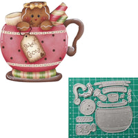 Christmas Gingerbread Cutting Dies For Card Making Scrapbooking Dies Metal Nouveau 2020 - Satisfashion.ca