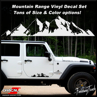 Strait Bottom Rocky Mountains -Set - Finishing Touch Vinyl Art