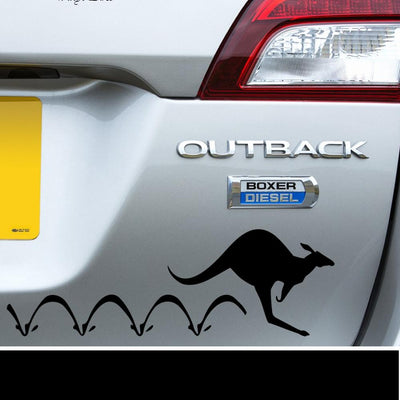 Hopping Outback Kangaroo Decal - Finishing Touch Vinyl Art