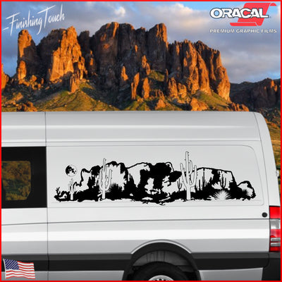Lost Dutchman Mountains, Arizona Desert -Single Side - Finishing Touch Vinyl Art