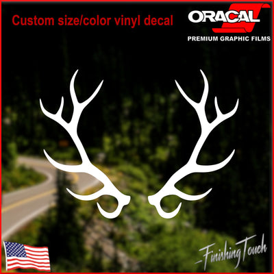 Elk Antlers, Buck Rack - Finishing Touch Vinyl Art