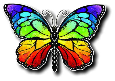 Rainbow Monarch Butterfly - Finishing Touch Vinyl Art