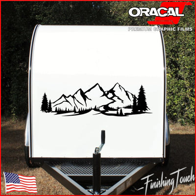 Rocky Mountain Meadows, Valley With Fir Trees -Single Side - Finishing Touch Vinyl Art