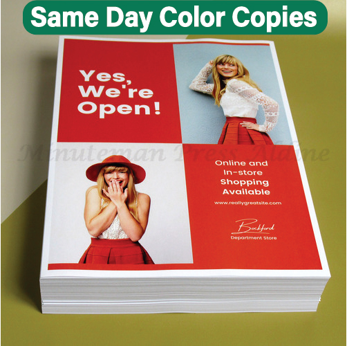 Color Copies Shipped Next Day | Minuteman Press Houston