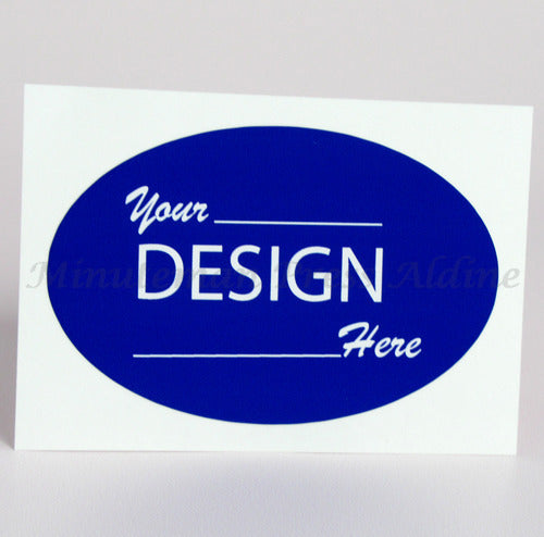 "<img src=""Order-Custom-Sticker-Labels-Houston-TX.jpg"" alt=""Custom Oval Stickers with blue background and"