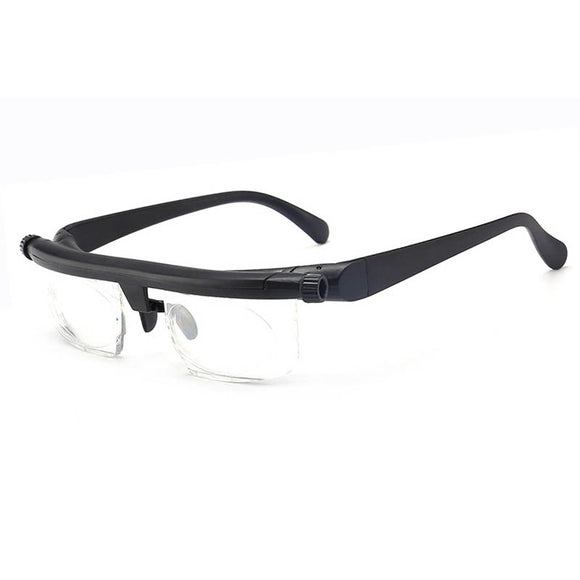 -600 +300 Myopia Hyperopia Reading Glasses dual-use focal length adjustable reading glasses trimming - 6d + 3D original box