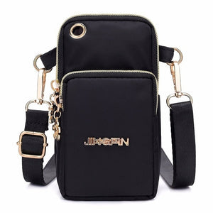 Creative pop new mobile phone bag female messenger bag women and men' hanging neck mobile phone bag change pocket mini bag