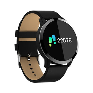 Q8 Plus Rose Smart Watch OLED Color Screen Smartwatch women Fashion Fitness Tracker Heart Rate monitor Wristband Step Counter