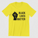 Black Lives Matter (Black Power Hand) Yellow T-shirt