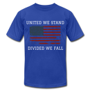 United We Stand, Divided We Fall - royal blue