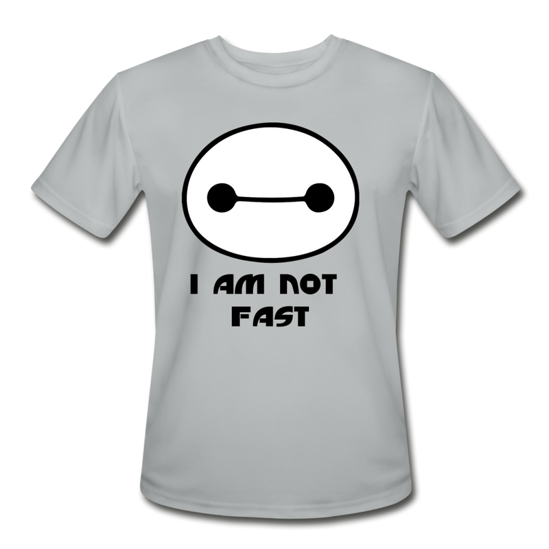 I am not fast running shirt - silver