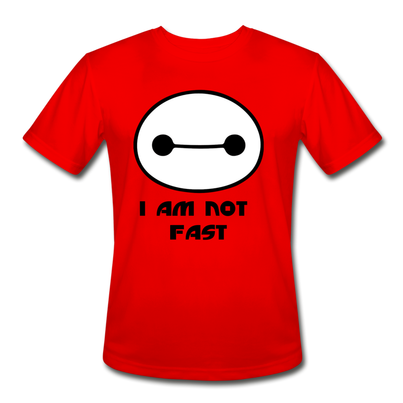 I am not fast running shirt - red