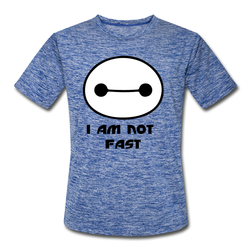 I am not fast running shirt - heather blue