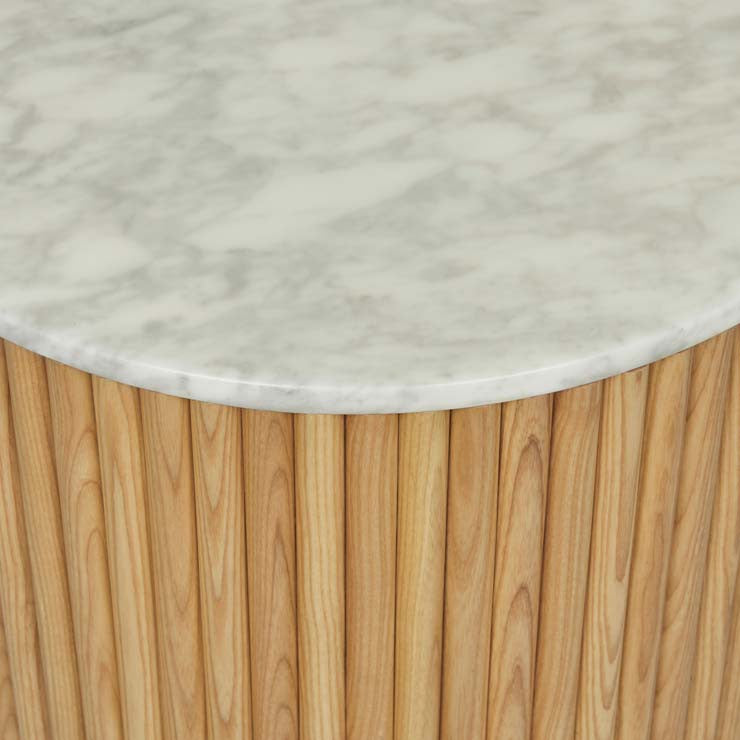 Benjamin Ripple Marble Side Table