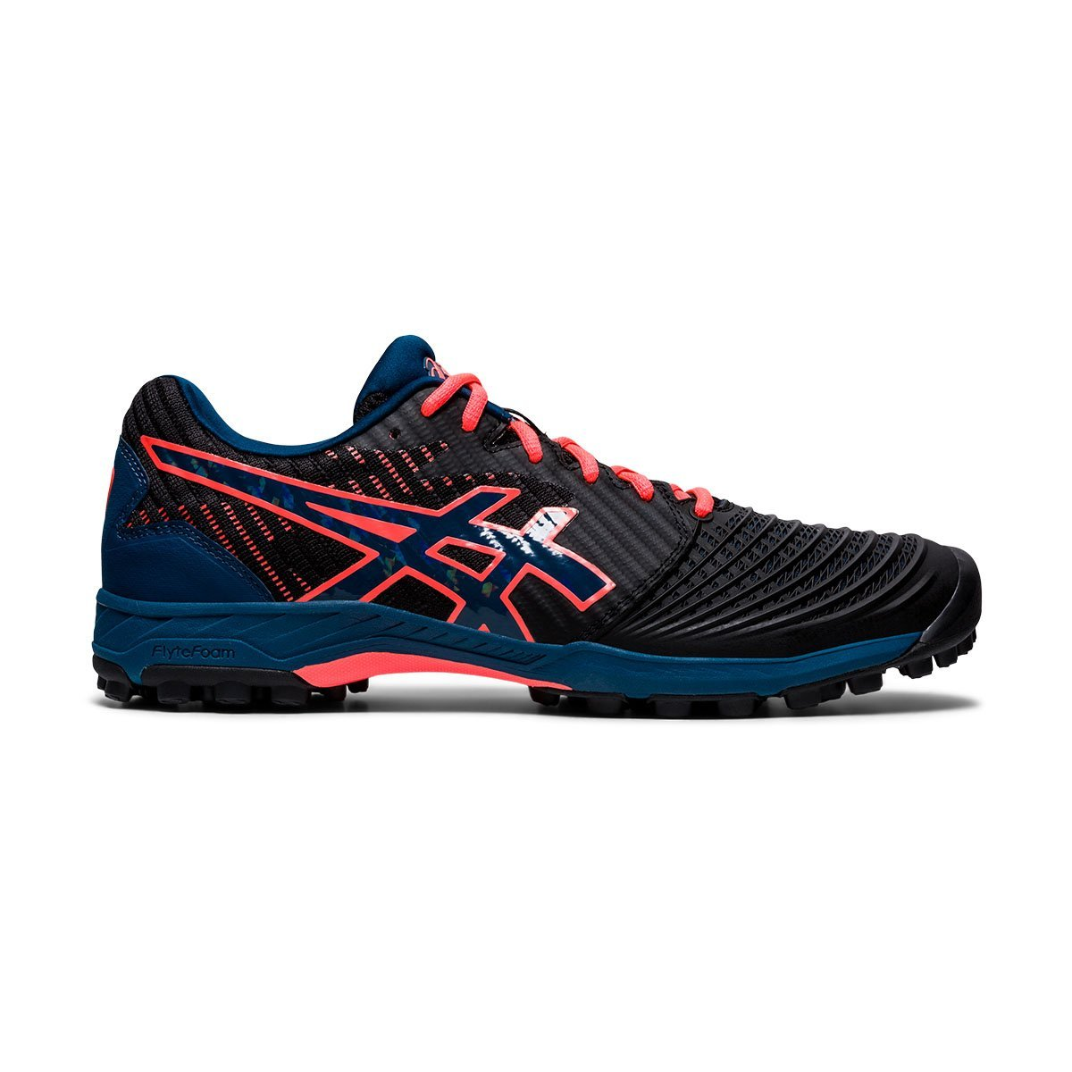 Asics Field Ultimates FF Black/Mako Blue (Mens) - Just Hockey