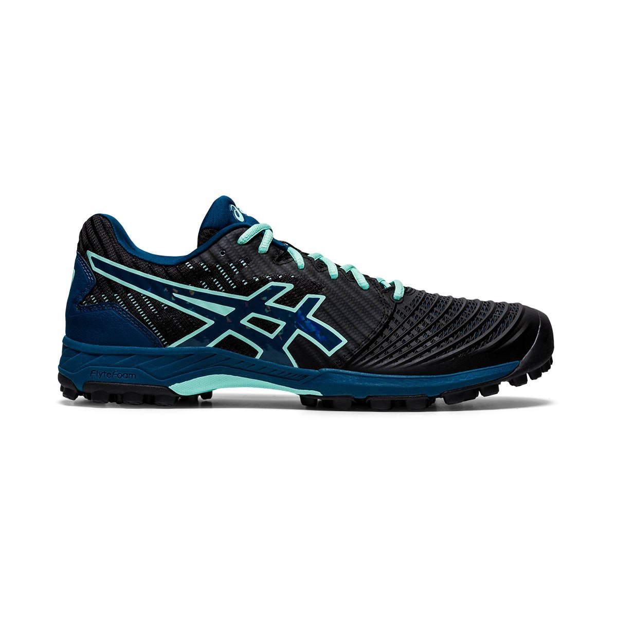 Asics Field Ultimates FF Black/Mako Blue (Womens) - Just Hockey