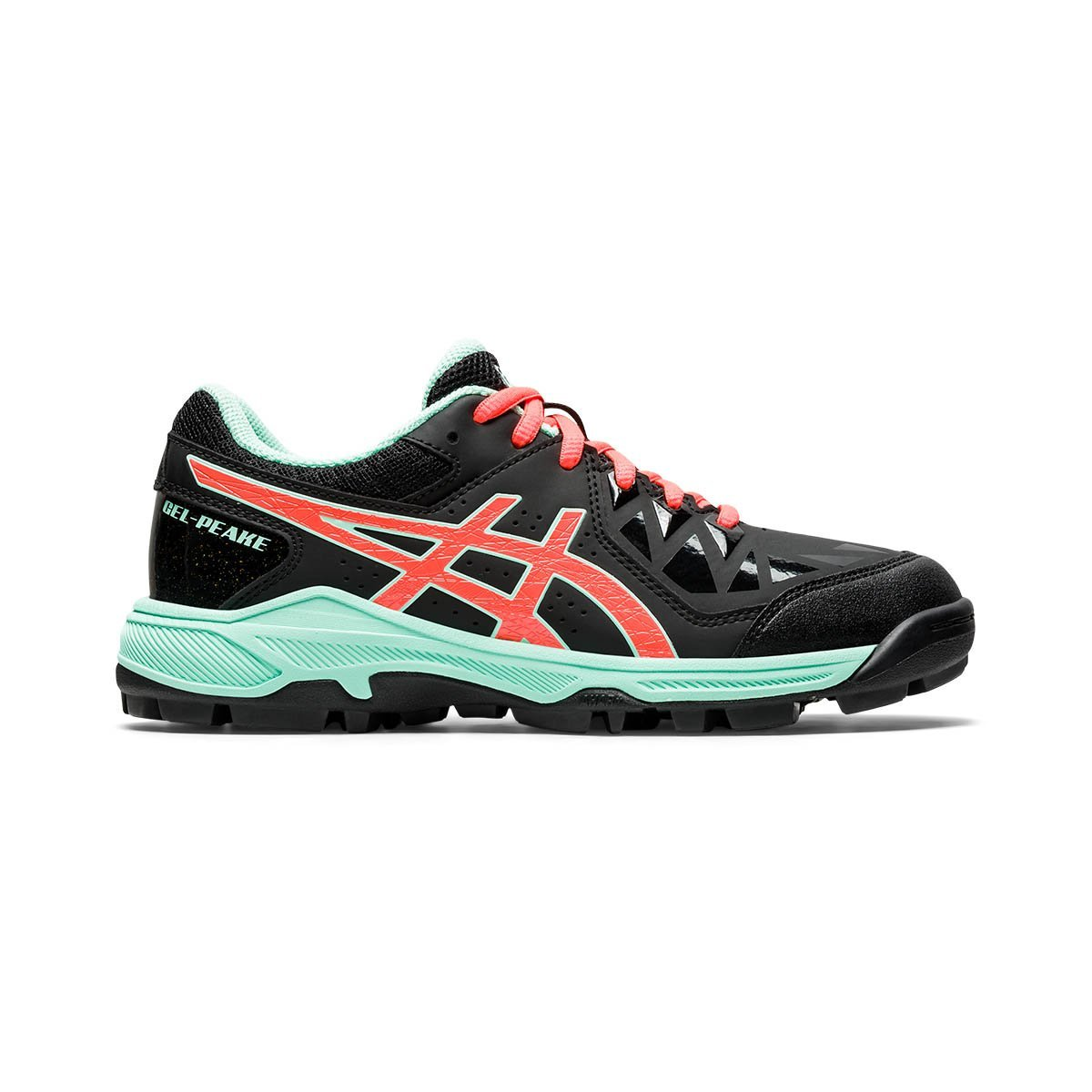 Asics Gel-Peake GS Black/Flash Coral (Kids) - Just Hockey