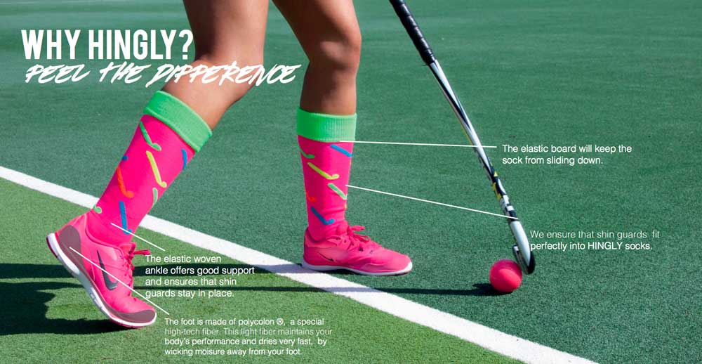 Hingly Fun Socks Stripe Flamingo (Navy) - Just Hockey