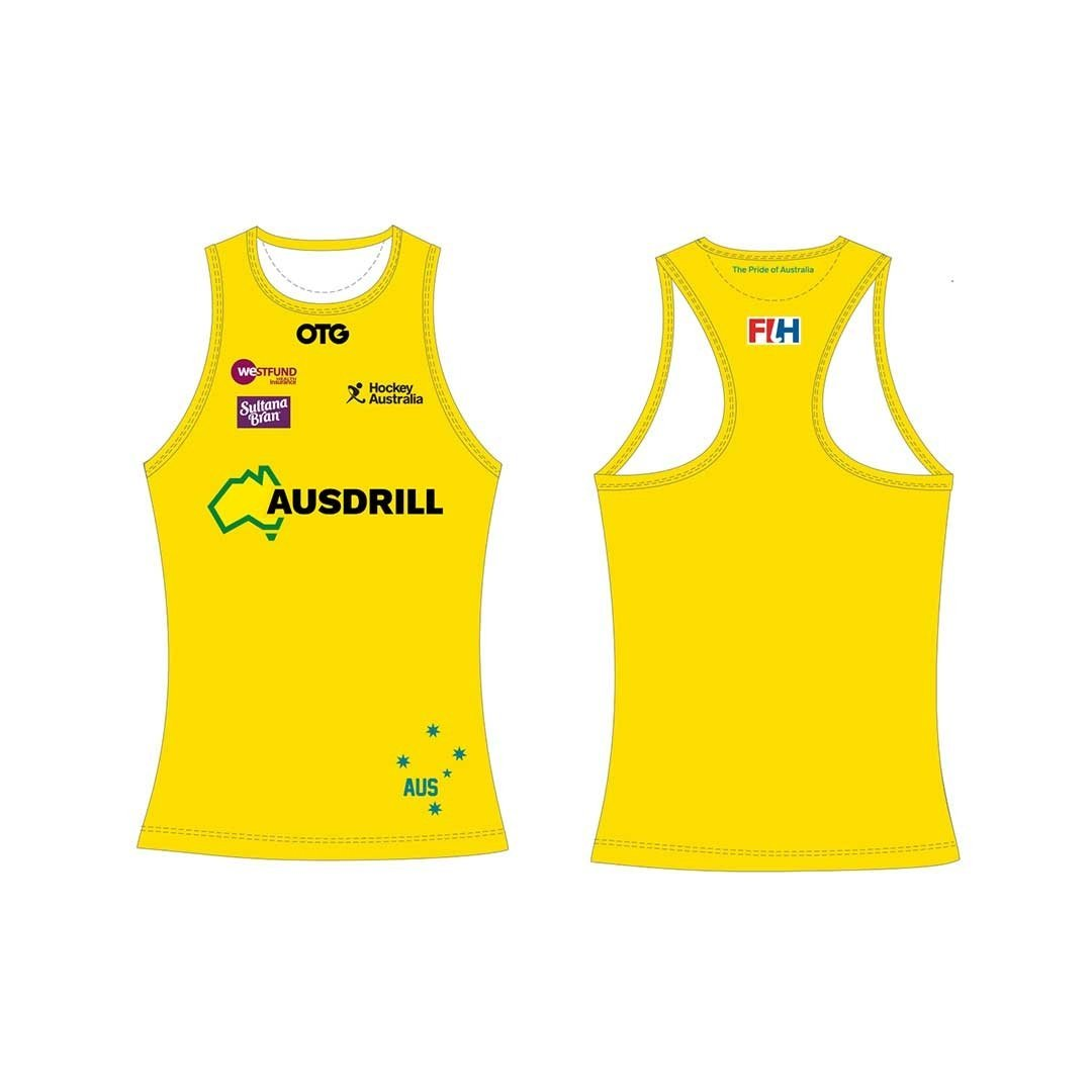 Hockeyroos Home Tank Female - Just Hockey