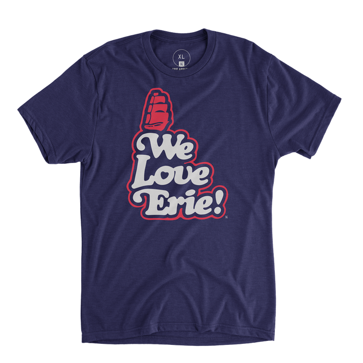 We Love Erie Tee - Navy