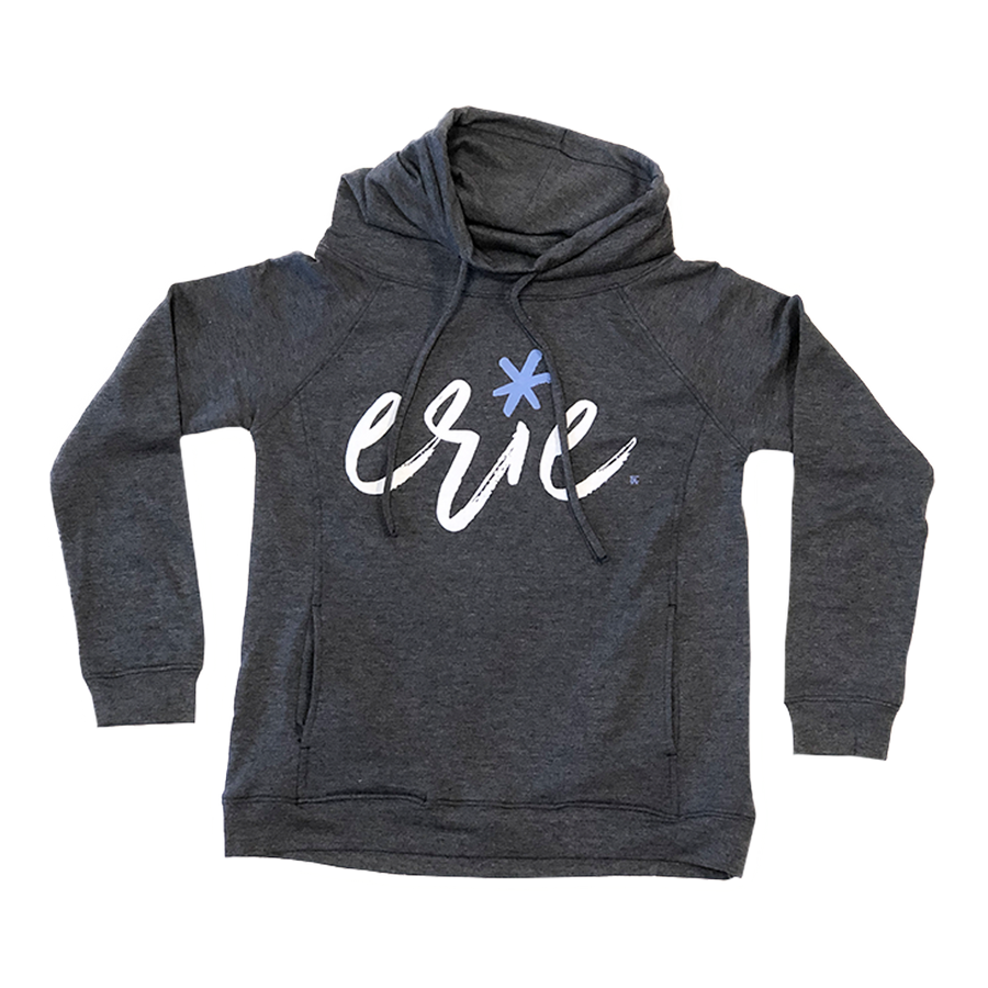 Erie Ladies Navy Funnel Neck