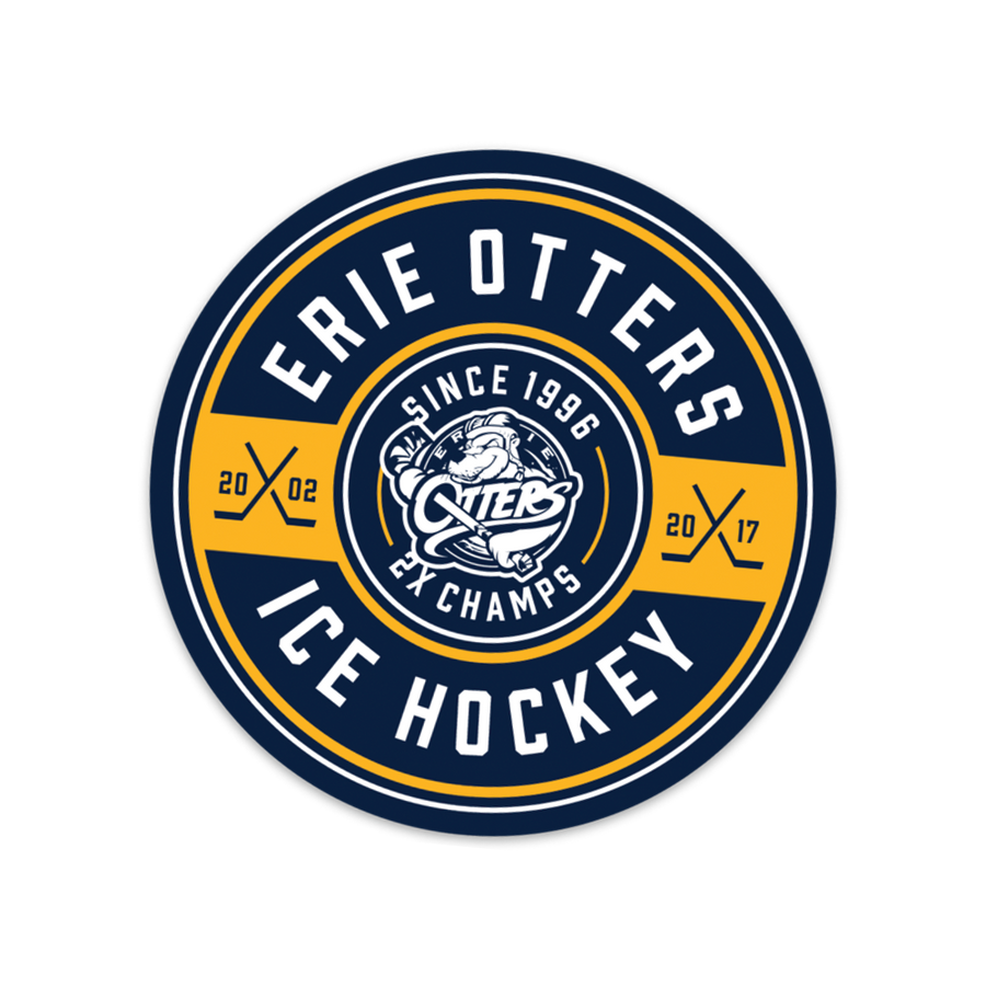 Erie Otters Badge Sticker
